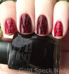 Stamping Challenge Black And Red Using New Bundle Monster & Essence (4) by goldspecknails, via Flickr
