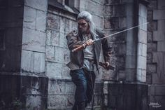 Cosplay Geralt - The Witcher Witcher 3 Geralt, The Witcher, Geralt Of Rivia Cosplay, Game Of Thrones Characters, Games, Fictional Characters, Nerd Stuff, Facebook, Style