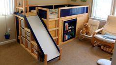 IKEA hack: van standaard hoogslaper naar kinderbed met glijbaan