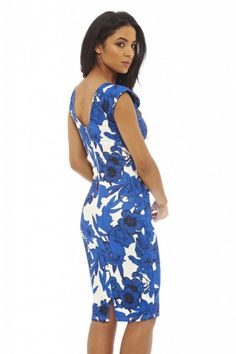 Round Necked Floral Printed Dress
