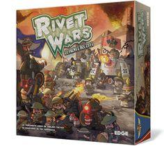 Rivet Wars es un trepidante juego de tablero táctico de miniaturas inspirado en mecánicas propias de la estrategia en tiempo real.