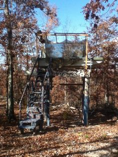 You Might Be A Redneck.....  My Dad built this deer stand (very productive I might add) using his old Terry Bass boat!