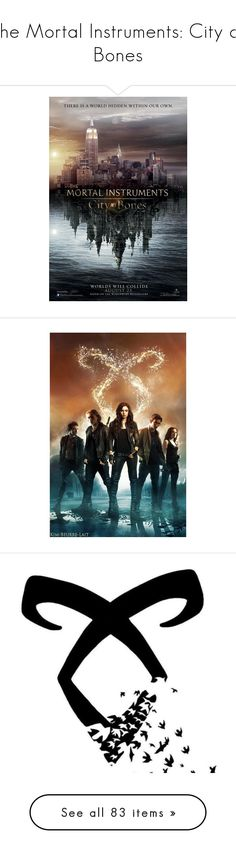 """The Mortal Instruments: City of Bones"" by saphira-dm ❤ liked on Polyvore featuring city of bones, mortal instruments, photos, pics, pictures, shadowhunters, delete, fillers, backgrounds and other"