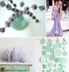 Mint + ice + wisteria