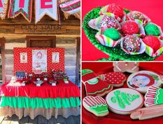 Mrs. Claus Cookie Shop Party with REALLY CUTE IDEAS via Kara's Party Ideas   KarasPartyIdeas.com #ChristmasParty #KidsChristmasParty #Holida...
