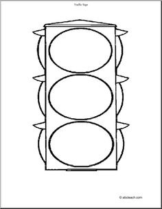 Traffic lights  stop sign coloring page  Road Signs  Pinterest