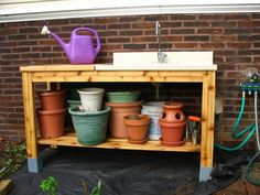 Potting Bench | Do It Yourself Home Projects from Ana White