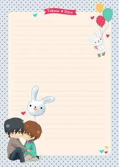 Set Papier à Lettre - Sekaiichi Hatsukoi via melinam. Click on the image to see more!