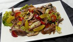 Salade de canard aux prunes - Simple & Gourmand