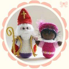 Free crochet pattern for Sinterklaas and Zwarte Piet