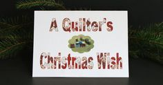 Quilting Sewing Christmas Card by Sophiagoestothedogs on Etsy, $3.15