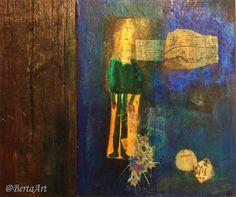 Mixed Media on wood, 28 x 24 By Clara Berta