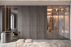 Studio › Fabulous story in Paris - Zimmereinrichtung Wardrobe Room, Wardrobe Design Bedroom, Modern Bedroom Design, Modern Luxury Bedroom, Walk In Closet Design, Closet Designs, Walking Closet, Dressing Room Design, Luxurious Bedrooms