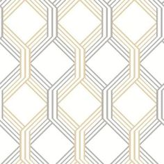 Linkage Gold Trellis Wallpaper