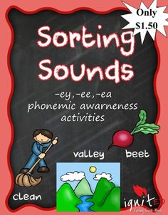 Sorting Long E Sounds- EA, EY, EE - IgnitED