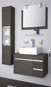 De 73 ideas de decoraci n para ba os modernos peque os - Lavamanos sin instalacion ...