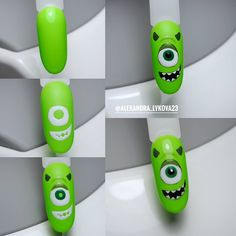 By  Monster Inc Nails, Pretty Nails, Art Lessons, Nail Art, Make It Yourself, Halloween, Amazing, Beautiful, Russia