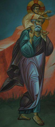 Heilige Jozef: St Joseph icon with the Christ child. Religious Images, Religious Icons, Religious Art, Catholic Art, Catholic Saints, Christian Artwork, Religion Catolica, Jesus Art, Blessed Mother Mary