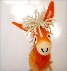 Augustina   Felt Donkey Art Animal Marionette by TwoSadDonkeys, $52.00