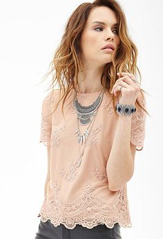 Floral Lace Top | FOREVER21 - 2000102708