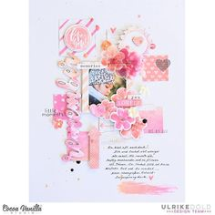 """433 Likes, 7 Comments - Cocoa Vanilla Studio Zoe Pearn (@cocoa_vanilla_studio) on Instagram: """"Our love theme continues today, with Lina sharing a gorgeous page she created with our new 'More…"""""""
