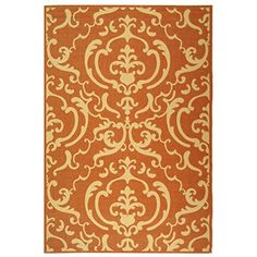 "Safavieh Courtyard Collection CY2663-3202 Terracotta and Natural Indoor/ Outdoor Area Rug (6'7"" x 9'6"")"