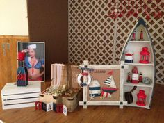 Ahoy it's a boy Nautical Baby Shower | CatchMyParty.com