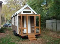 Itty Bitty House Company...This is an amazingly efficient tiny house.  See the video tour at the bottom of the post.