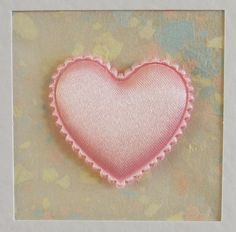 I Love You Card, blank, anniversary, birthday, wedding, engagement, pale pink heart on pink, contemporary, modern, with lilac envelope by CardArtSmart on Etsy