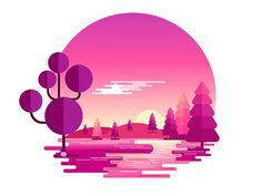 Sunset Nature Landscape by @hem.bora . . . #logo #logodesign #branding #brandidentity #graphicdesign #graphicdesigner #creative #instagood #picoftheday #designinspiration #creativity #brandlogo #greatlogo #designer #design #brand #illustrator #illustration #photoshop #adobe #photooftheday #gfxmob