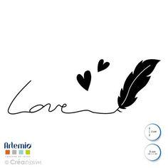 Tampon en bois loisirs créatifs love plume Artemio