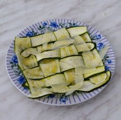 Simple Appetizer Recipe: Raw Zucchini Ribbons with Parmesan — Recipes from The Kitchn (I've made this once, used slices instead of ribbons, done very thin with a mandolin. Major hit on a hot summer day)