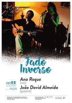 """""""Duetos da Sé"""", #Alfama #Lisboa #Lisbon - QUINTA-FEIRA 8 DE FEVEREIRO 2018 – 21H30 - CONCERTO """"IN FADO"""" - """"FADO INVERSO"""" - Ana Roque (voz) & João David Almeida (guitarra)  - Ana Roque e João David Almeida juntaram-se em torno dos sons que o Fado trouxe até nós, levando-os até novas paragens, onde se cruzam diferentes linguagens musicais. Nessa viagem que nos convida a uma outra escuta, sente-se o prazer do novo e ao mesmo tempo um certo conforto, ancorado nas melodias e nos poema..."""