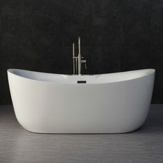 Woodbridge x Whirlpool Water Jetted and Air Bubble Freestanding Bathtub, / Whirlpool & Air Tub,