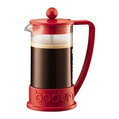 Bodum Brazil Red French Press Cafetiere Coffee Maker Pot Plunger 3 Cup 035L -- Read more  at the image link.