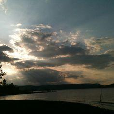 Sunset over greers ferry lake....hebersprings ar
