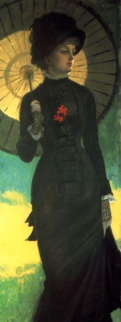 Parasol - Jacques-Joseph Tissot (1836-1902) Detail Mrs. Newton With a Parasol