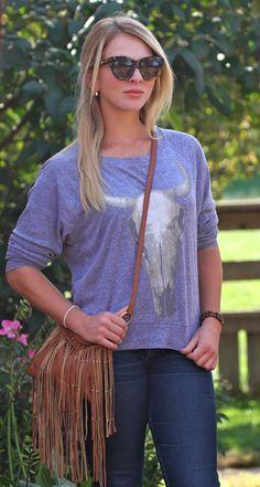 Haute Hippie Sweatshirt, Karen Walker sunglasses ♕The Bizi Bee♕: Southwestern Flair