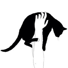 me and my cat silhouette                                                                                                                                                                                 Mais
