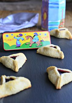 Hamantaschen, a jam-filled cookies, tradionally made for the Jewish festival of Purim