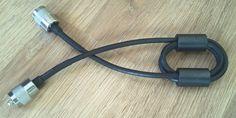 RG58 Choke, 2 Ferrite Rings with 3 Loops
