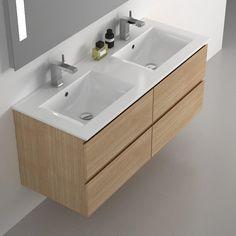 meuble de salle de bains cardo chne clair 120 cm 629 au lieu - Meubles Salle De Bains Delpha Unique Ice 120 Soldee