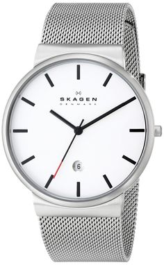 Skagen Men's SKW6052 Ancher Quartz 3 Hand Date Stainless Steel Silver Watch