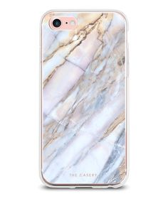 STYLE: Clear matte plastic iPhone case with iridescent blue, pink, silver, and gold marble design. Made of top-quality German Bayor plastic with shock-absorbent rubber sides. Drop-tested from.