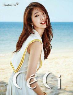 La Actriz de Corea del Sur Park Shin Hye fue elegida como la chica de la portada de tres revistas de moda Ceci que serán publicados simultán...