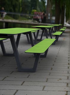 Use green PICNIC table to make green spaces even greener. Street Furniture, Picnic Table, Urban Design, Broadway, Spaces, Tools, Landscape, Green, House