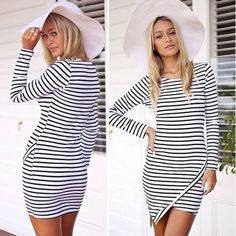 Wow! Striped Irregular Bottom Banquet Dresses only $27.99 from ByGoods.com! I like it so much!!