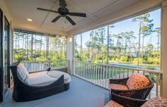 Outdoor Seating | Outdoor Decor | Outdoor Living | Luxury Real Estate Bluffton, South Carolina | Spacious Balcony | Lowcountry Living | Southern Style