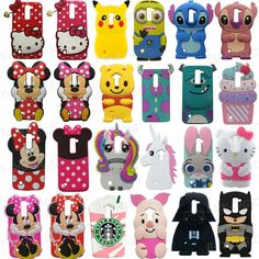 0d2618b9eab Cute 3D Cartoon Kids Girls Silicon Soft Case Cover For LG G3 G4 Stylus K10  Phone