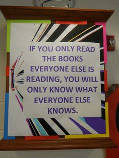 If you only read...